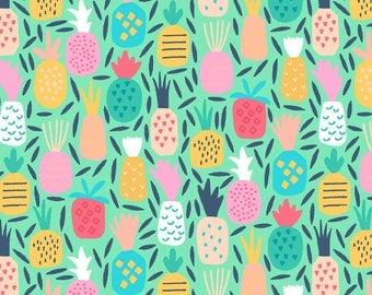 Pineapple Dream Multi - Life's a Beach - Dear Stella Fabric- Stella  Quilters Cotton Poplin ST-952MULT