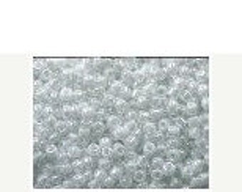 Size 11/0 420 - Miyuki Round Seed Bead - Opaque Bright White Luster - Glass Seed Bead - Sold in 30 gram Tube