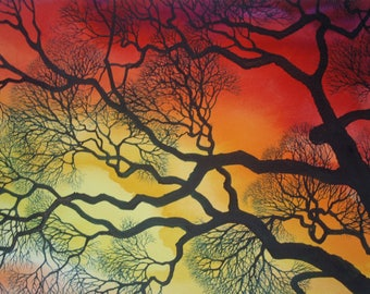 Sunset Lace VIII an original watercolor
