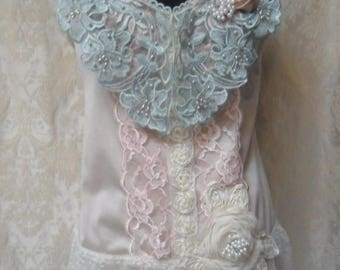 36% OFF Closet Cleaning TUNIC Top Tank 20's Look Romantic Boho Whimsical Glam Girl - Vintage Cami Make Over - Pastels