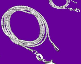 """MERZIEs sp ~16.5"""" SNAKE 1mm chain lobster clasp pendant necklace SALE - SHIPs from USA"""