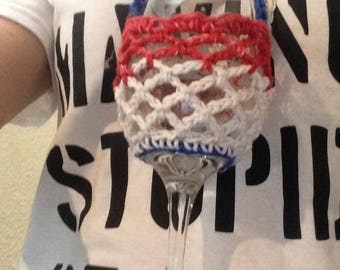 Stars and Stripes Wine Glass Necklace/Lanyard