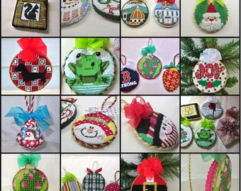 Needlepoint and Cross-Stitch Ornament Finishing Service ***Buy 10 & Get One Free***