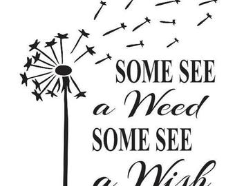 Some See a Wish Flower Vinyl Car Decal Bumper Window Sticker Any Color Multiple Sizes Mothers Day Jenuine Crafts