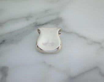 Modernist Sterling Pendant. Vintage Artisan Statement Necklace. 1950s Fine Sterling Vintage Jewelry