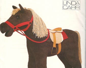 Vogue 9603 623 PONY Horse Pattern and Saddle 28 x 33 Inches Stuffed Animal Designer Linda Carr Vintage Sewing Pattern UNCUT