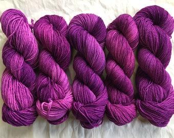 fuchsia agate - several yarn bases