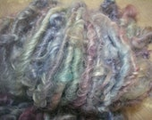 Handspun Hand Dyed Curly Textured Leicester Longwool Bulky Art Yarn in Pale Pastels for Knitting Crochet Weaving by KnoxFarmFiber