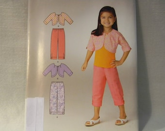 Uncut Simplicity Pattern 1646 Easy Child's Cropped Pants and Jacket
