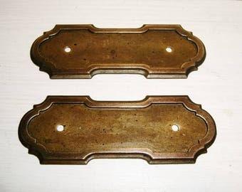 Brass Hardware Back Plates Antique Vintage