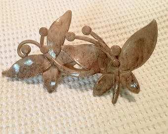 Vintage butterfly hair clip