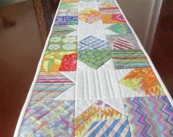 Handmade Table Runner Bright and Fun Floral Table Topper Kaffe Fasset Fabric Quilted Table Runner