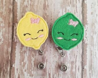 Best Friend Badge Reel, Best Friend Gift, Best Friend Ideas, Badge Reel, Felt Badge Reel, Retractable Badge Reel, Lemon Lime, Nurse, Teacher