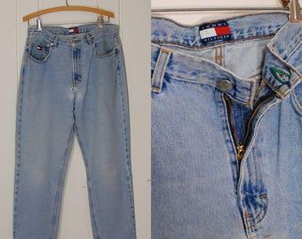 Vintage Jeans / Tommy Hilfiger Jeans / Tommy Hilfiger / 80s Jeans / Vintage 80s Jeans / Boyfriend Jeans / Tommy Jeans / Size 33 Waist