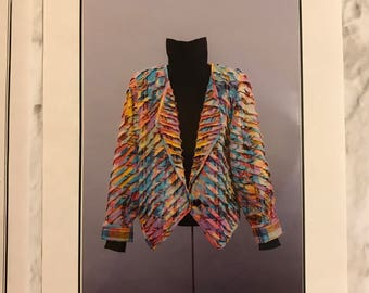 Vintage Shear Delight Jacket Pattern Size 8, 10, 12, 14, 16, 18, 20, 22