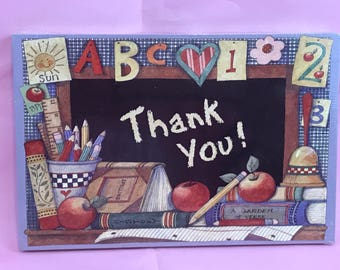 Teacher Thank You PostCards By Susan Winget