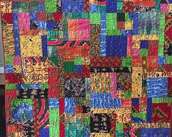 Festival Sale Dreaming of My Ancestral Home 60x75 African lap quilt