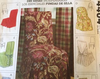 McCalls Home Decorating PATTERN M4404 Chair Cover Essentials UNCUT