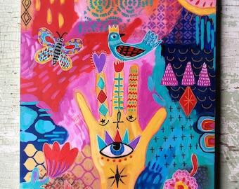 Hamso Hand Painting Bohemian Style Wall Art
