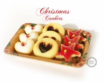 Christmas Cookies - 1/12 scale miniature