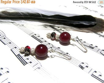 On Sale Red Chalcedony Earrings Holiday Gifts for Women Silver Earrings Popular Jewelry Top Selling Jewelry Gift Ideas