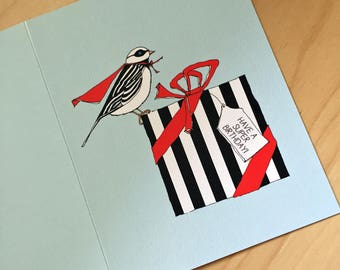 Super Bird - Birthday Card