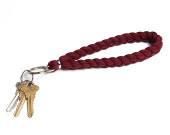 Maroon Keychain, Keychain Wristlet, Maroon Key Fob, Key Fob Wristlet, Key Ring, Lanyard, Keychain Lanyard, Wristlet Keychain, Gift Ideas