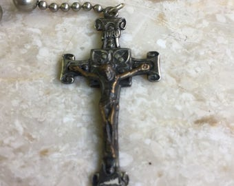 Silver Metal Rosary