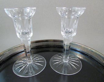Vintage Waterford Candlestick Holders Carina Pattern Set of Two Wedding Gift or Anniversary Gift Elegant Entertaining