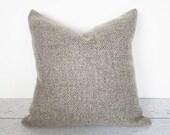 Textured Pillow, Wool Pillow, Throw Pillow, Decorative Pillow, Taupe Pillow, Pillow Covers, Gray Pillow, Neutral, Warm Grey, 18, 20, Zipper