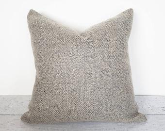 Textured Pillow, Wool Pillow, Throw Pillow, Soft, Decorative Pillow, Taupe Pillow, Pillow Covers, Gray Pillow, Neutral, Warm Grey, 18, 20