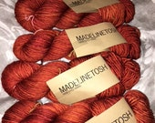New MADELINETOSH The FOX Orange Halloween DK Worsted Weight Tosh Vintage Yarn 800 yds. (1 Lot of 4 Skeins) Exclusive Colorway