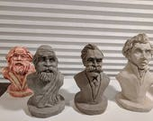 Custom Mini Busts: Marx, Nietzsche, Socrates, and Kierkegaard