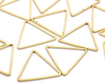 Brass Triangle Charm, 50 Raw Brass Triangles (20x20x20mm) Bs-1124