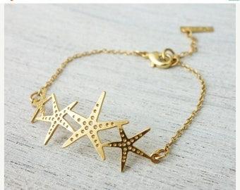 On Sale 40% off, Starfish Bracelet, charm bracelet, under the sea
