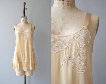 Bessie silk step-in | vintage 1920s step-in | silk 20s romper