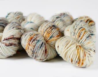 Deadwood 231 yards/ Posh DK Yarn/ superwash merino 3 ply speckle dyed