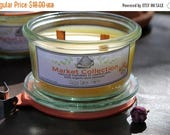 Sale-Welcome Summer Organic Beeswax Candle   Double Wooden Crackle Wick   Weck Jar Candle   waldorf candle   unscented candle   Small 3.5 oz