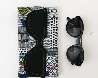 Reading Glasses Tribal Case, Sunglasses Soft Case, Glasses Case,  Ready to Ship Gift Idea