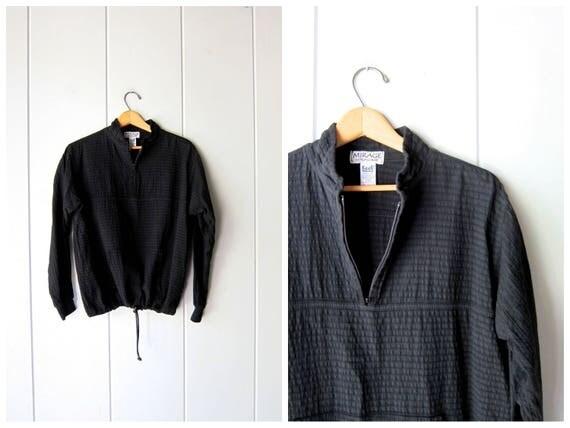 Cotton GAUZE Shirt Jacket Basic Black Zip Up Running Jacket Simple Minimal EZZE WEAR Pullover Top Sporty Sports Light Coat Hoodie Womens