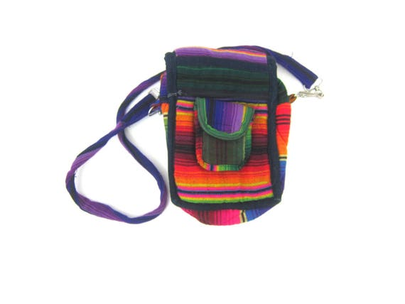 vintage Colorful ethnic purse Small Red Crossbody Purse across body Bag Small Boho Festival Bag Indie Girl Revival Purse MN