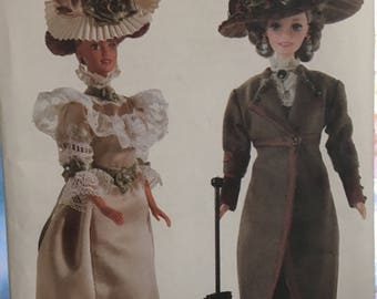 Linda Carr Fashion Doll Vogue Craft Pattern 7109  circa 1900 & 1910