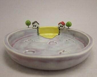 One Love...Stoneware Trinket Dish by elukka
