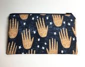 Pencil Case Zip Pouch - Palm Reading Hands