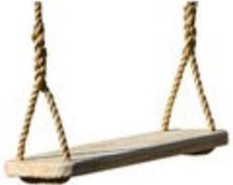 Wood Tree Swing/ Wood Swing/Premier Swing/Rope Swing/Yard Swing/Tree Swing/Handcrafted Swing/ Rope Bench Swing with 12 feet of rope per side