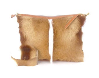 Springbok HOBO Bag ~  Springbok Fur Shoulder Bag