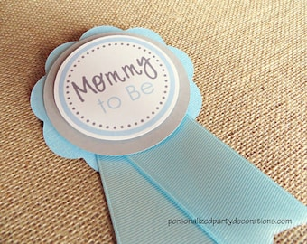 Baby Shower Decorations, No theme Baby Shower MOM TO Be Pin, Custom Color Combo