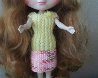 Blythe Handknit Dress Icy JessiFive  Basaak 2 Peice Set
