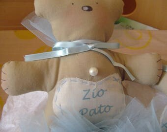BEARS HANDMADE birth or christening FAVORS burberry-BIMBO or BIM