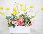 Simone & Troy Spring Spring Garden Centerpiece Faux Floral Arrangment
